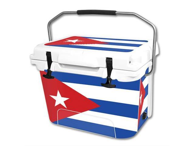 Skin Decal Wrap for RTIC 20 qt Cooler cover sticker Cuban Flag