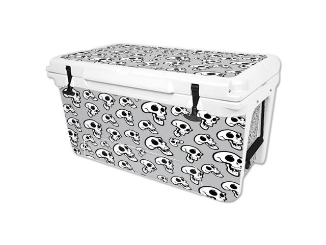 Skin Decal Wrap for RTIC 65 qt Cooler cover sticker Laughing Skulls