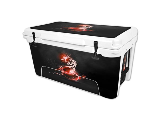 Skin Decal Wrap for RTIC 65 qt Cooler cover sticker Tribal Dragon