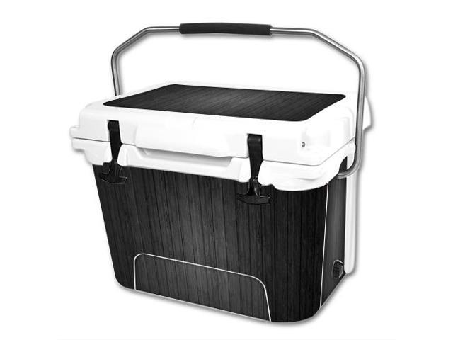 Skin Decal Wrap for RTIC 20 qt Cooler cover sticker Black Wood