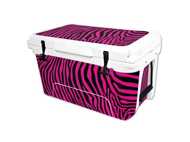 Skin Decal Wrap for RTIC 45 qt Cooler cover sticker Pink Zebra