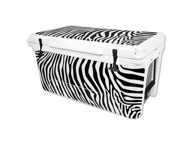 Skin Decal Wrap for RTIC 65 qt Cooler cover sticker Black Zebra