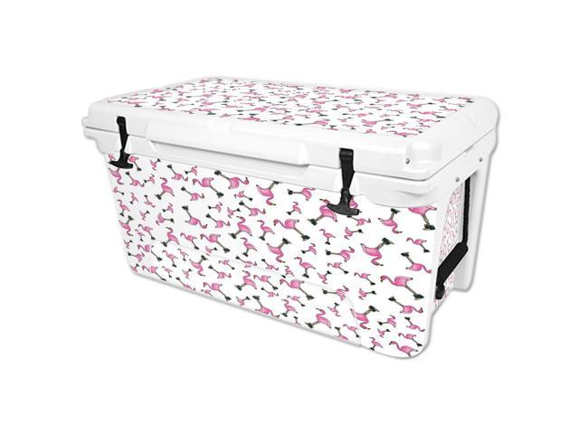 Skin Decal Wrap for RTIC 65 qt Cooler cover sticker Cool Flamingo