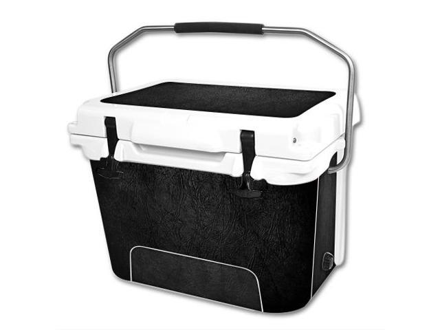 Skin Decal Wrap for RTIC 20 qt Cooler cover sticker Black Leather