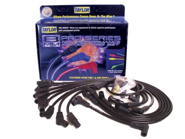 Taylor Cable 74058 8mm Spiro Pro; Ignition Wire Set