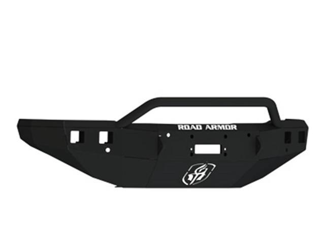 Road Armor 315R4B Front Stealth Bumper; w/Winch Mount; Pre-Runner Guard; For Use w/Square Lights;
