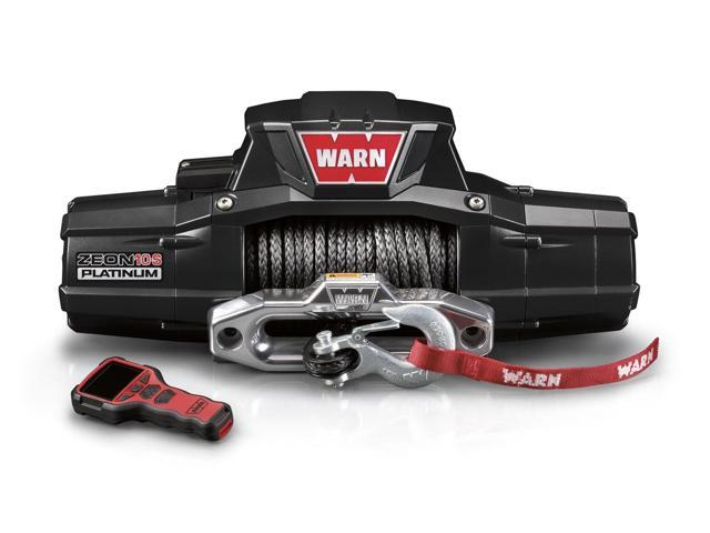 Warn 92815 ZEON Platinum 10-S; Winch; 10000 lb./4536 kg.; Single Line; Hause Fairlead; 12V DC Motor;