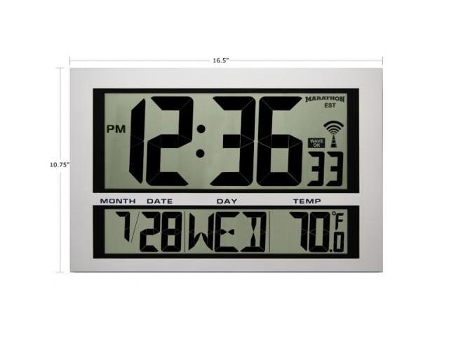 Marathon  Jumbo LCD Atomic Wall Clock with 6 Time Zones