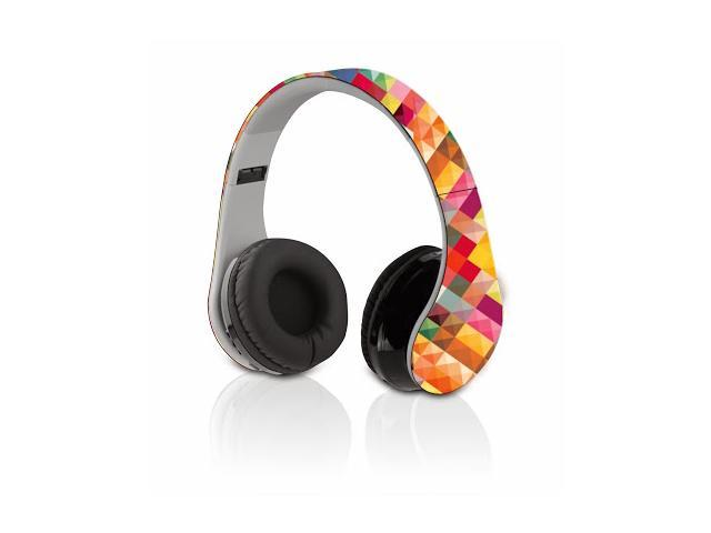 Designears-BT - Bluetooth foldable headphones with killer stereo sound quality (Colour: Spectrum)