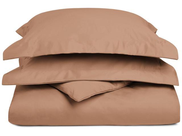 Impressions 1200-Thread-Count Duvet Cover Set, Cotton Rich, King/Cal King, Taupe
