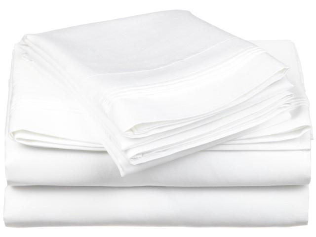 Impressions 1200-Thread-Count Sheet Set, Premium Long-Staple Cotton, Full, White