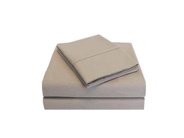 Impressions Twin Sheet Set 300-Thread Soft Cotton Deep Pocket, PERCALE, Tan