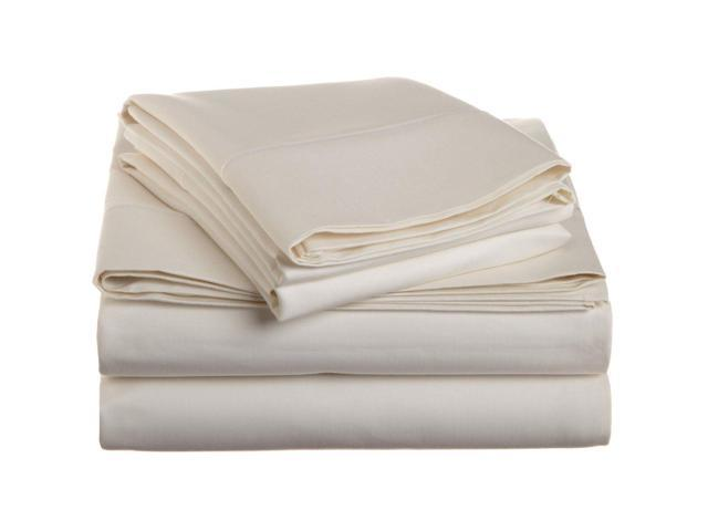 Impressions Luxurious 1500-Thread-Count Sheet Set, Long-Staple Cotton, Cal King, Ivory