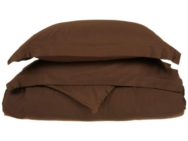 Superior Solid Duvet Cover Set, Soft Wrinkle Free Microfiber, Twin/Twin XL, Mocha