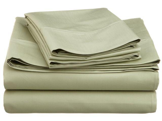 Impressions 600-Thread-Count Sheet Set, Cotton Rich, Full, Sage