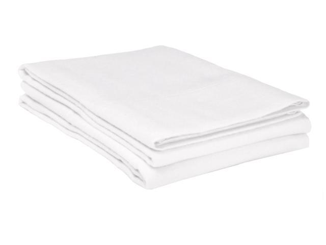 Superior King Flannel Pillowcases LIGHT WEIGHT,2-Piece,White