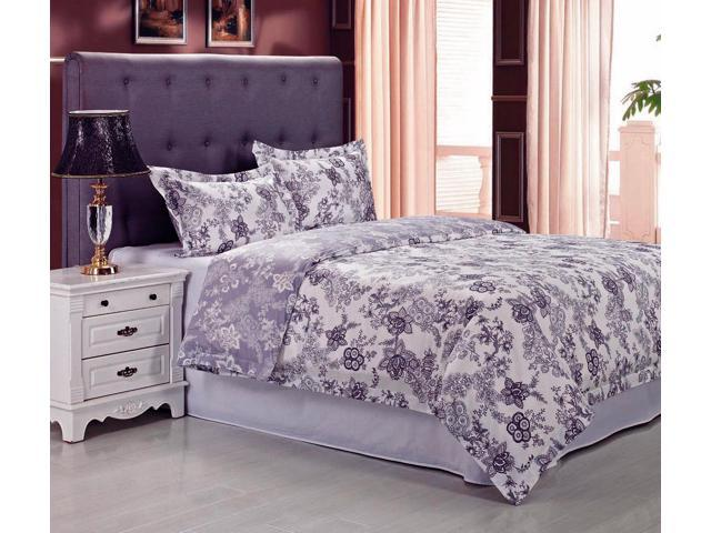 Impressions BLOSSOM Embroidered Floral Duvet Cover Set, Long-Staple Cotton, Full/Queen