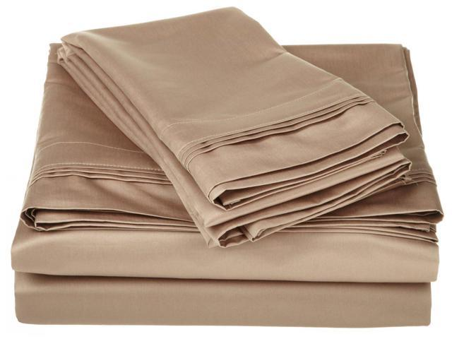 Impressions 1500-Thread-Count Sheet Set, Premium Long-Staple Cotton, Queen, Taupe