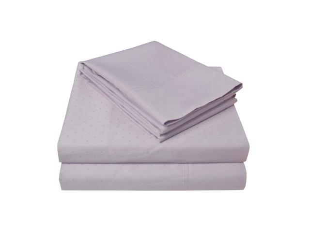 Impressions Swiss Dots 400-Thread-Count Sheet Set,100% Long-Staple Cotton, Queen, Lilac