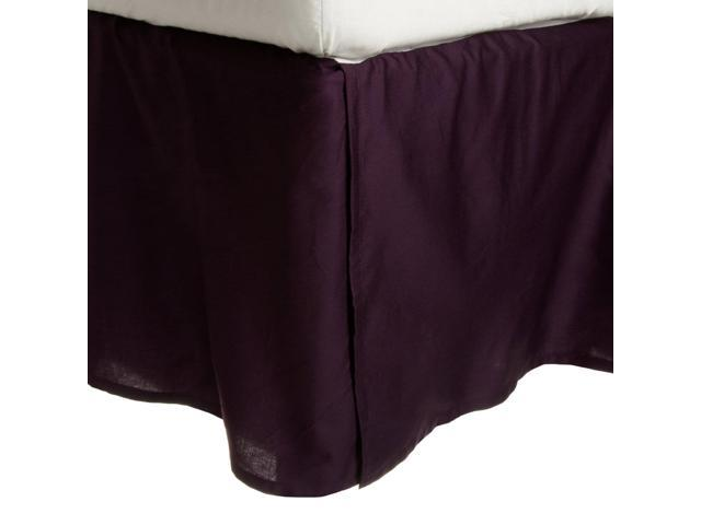 Impressions 300-Thread-Count Premium Long-Staple Cotton Bed Skirt, Plum, King