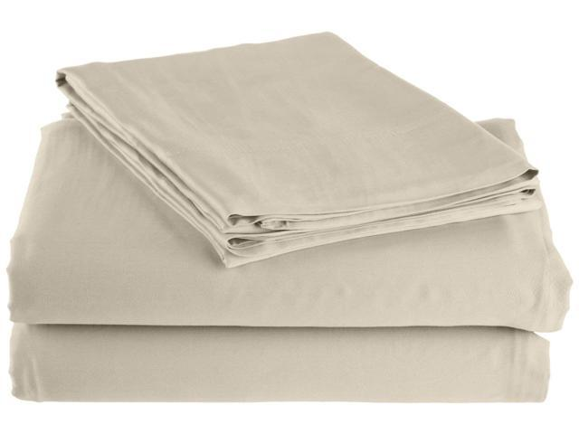 Impressions Ultra Soft 300-Thread-Count Sheet Set, Rayon From Bamboo, Full, Ivory