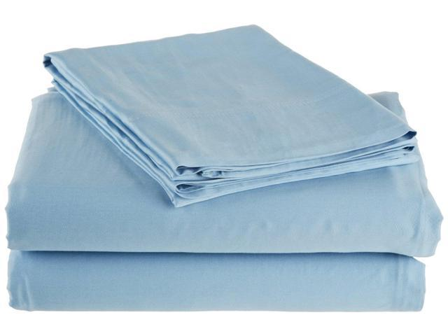 Impressions Ultra Soft 300-Thread-Count Sheet Set, Rayon From Bamboo, Twin, Light Blue