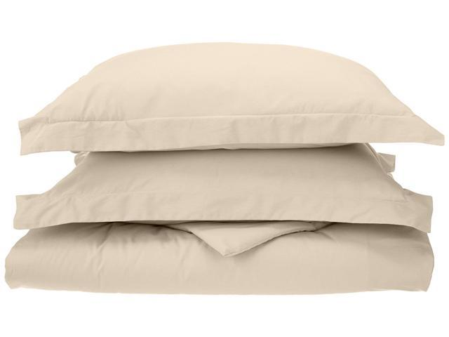 Impressions Percale Duvet Cover Set, Long-Staple Cotton, 300-Thread, King/Cal King, Ivory