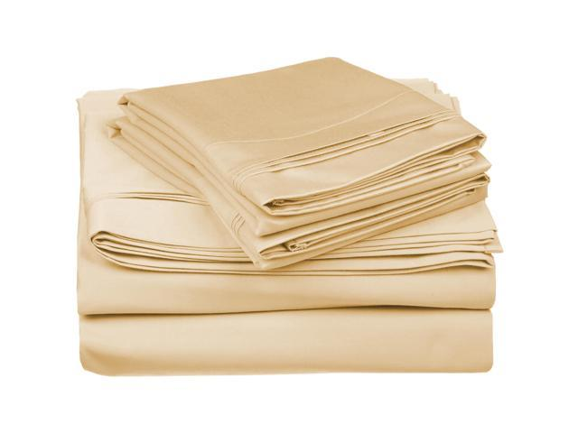 Impressions 650-Thread-Count Sheet Set, Premium Egyptian Cotton, Cal King, Gold