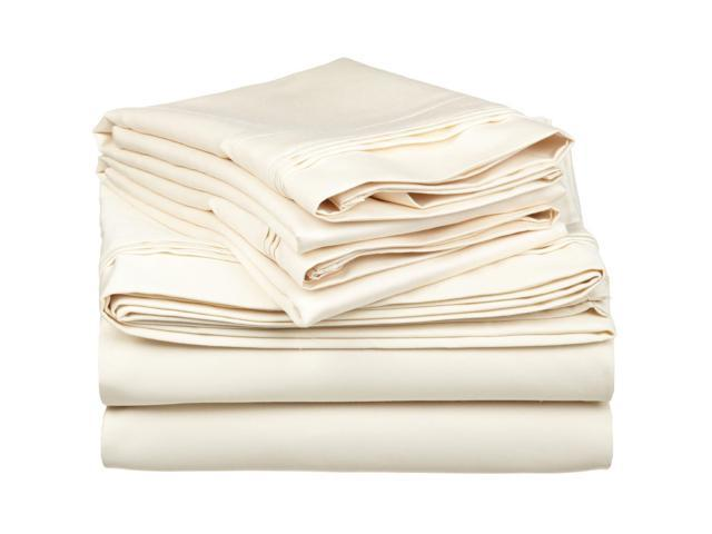 Impressions 650-Thread-Count Sheet Set, Premium Egyptian Cotton, Full, Ivory