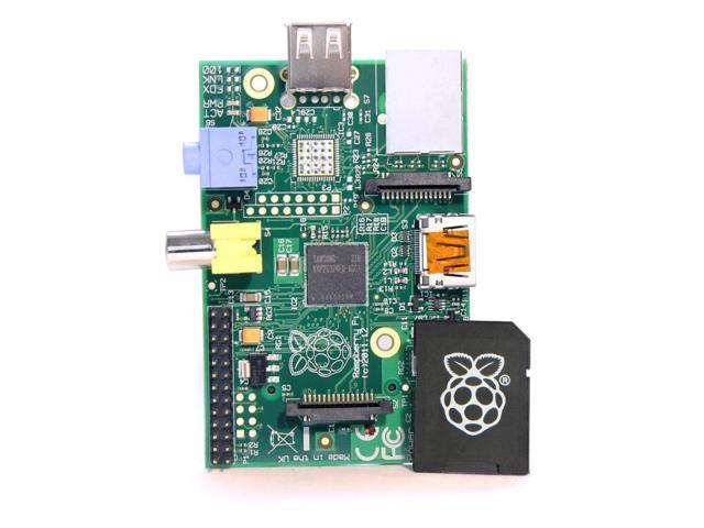 Raspberry Pi 83-14421 Computer -Model B (512M RAM) and 83-15499 8GB NOOBS microSD Boot Card Bundle