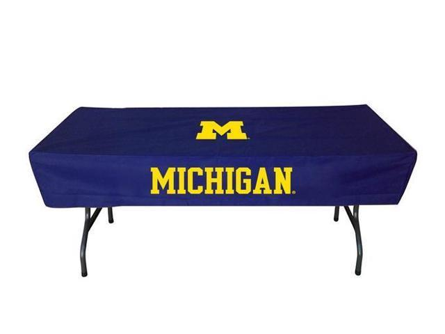 University of michigan wolverines table cover 6 ft logo for 10 ft table cloth