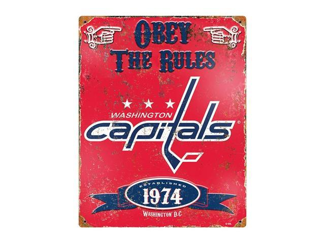 Washington Capitals Vintage Metal Sign
