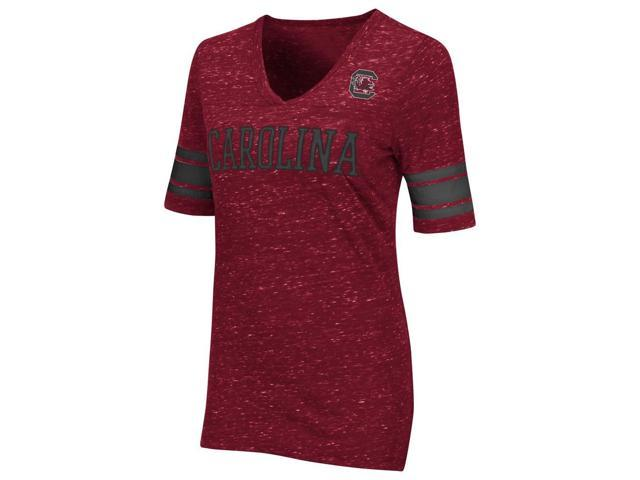 South Carolina Gamecocks Women's Tee Huddle Striped Sleeve Shirt