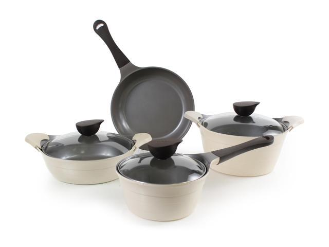 Neoflam Eela Cast Aluminum Cookware 7-Piece Set - Ivory