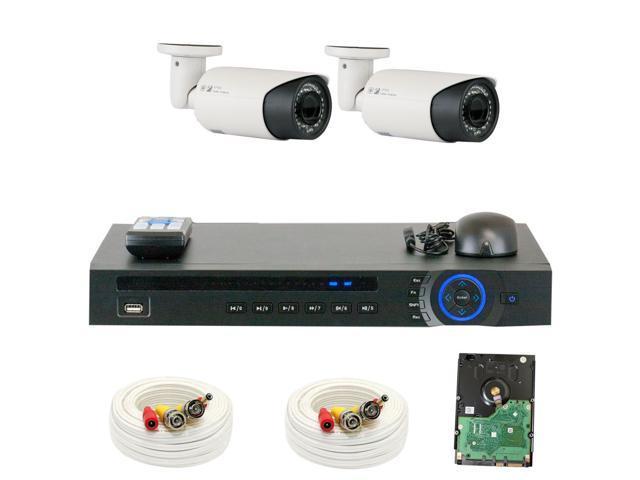 Gw motorized camera security system 1080p hd cvi 4ch video for Motorized security camera system