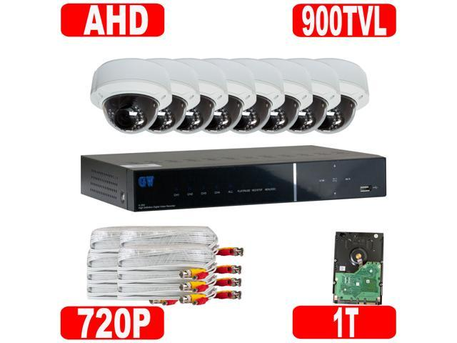 GW High End 8 Channel 960H D1 DVR (1TB HDD) + 8 Varifocal 2.8~12 Lens 900 TVL IR Camera Security System CCTV Surveillance ...
