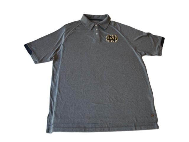Notre dame fighting irish chiliwear gray performance golf for Notre dame golf shirts