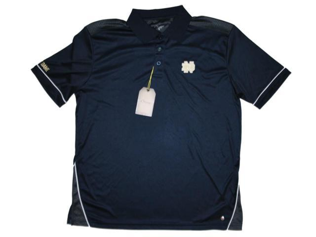 Notre dame fighting irish chiliwear navy gray performance for Notre dame golf shirts