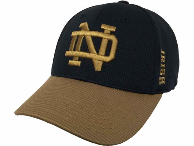 Notre Dame Fighting Irish TOW Navy Gold Booster Plus Performance Flexfit Hat Cap