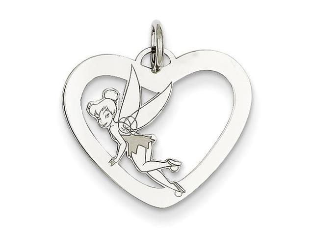 Sterling Silver Disney Tinker Bell Heart Charm