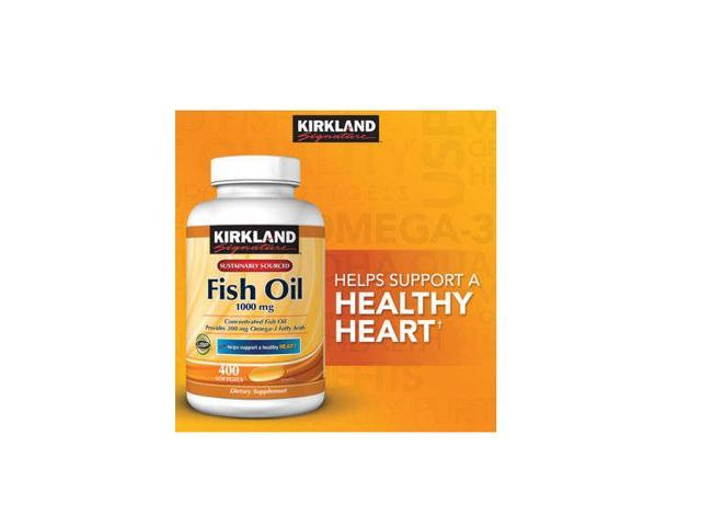 Kirkland signature fish oil 1000mg 400 softgels pack of 2 for Kirkland signature fish oil