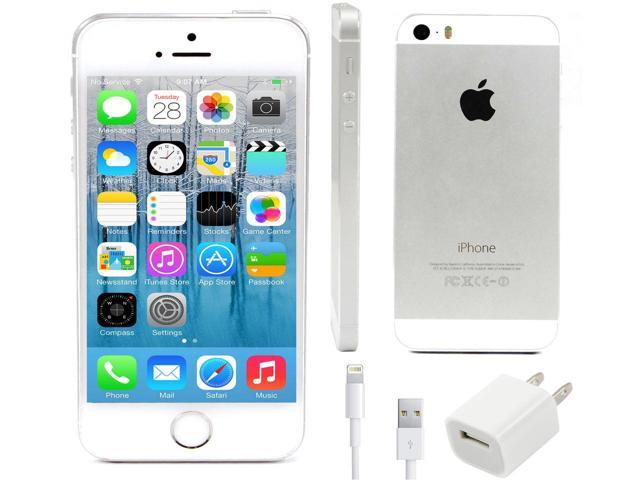 refurbished apple iphone 5s 16gb at t smartphone silver. Black Bedroom Furniture Sets. Home Design Ideas
