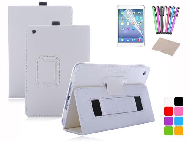 For iPad Mini Magnetic PU Leather Handheld Two-fold Folio Stand Smart Case Cover Sleep Wake + Film + Stylus + Cloth