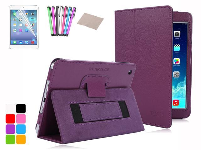 TKF Smart Magnet PU Leather PC Cover Handheld Belt Stand Case for 2013 iPad Mini with Retina Display