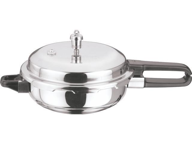 Vinod Splendid Stainless Steel Sandwich Bottom Pressure Pan, Junior