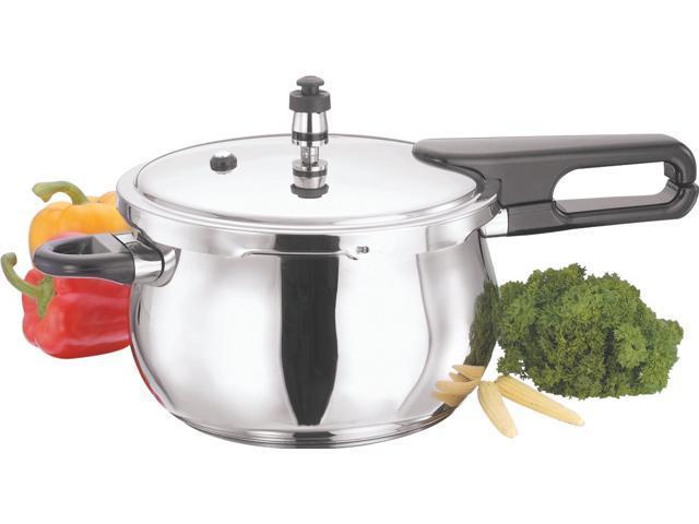 Vinod Splendid Plus Handi Stainless Steel Pressure Cooker, 3.5-Liter