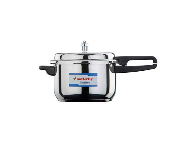 Butterfly Blue Line Wider Stainless Steel Pressure Cooker, 3.5-Liter