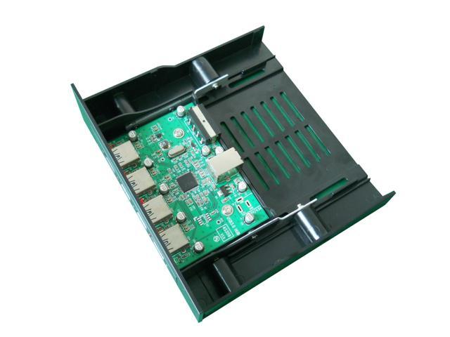 Agestar USB3.0 4 Ports Hub For Front Panel of Case, Suitable All Case Rabbet, Computer Expand Card