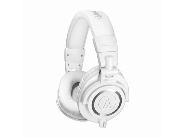Audio Technica ATH-M50x Closed-Back Monitoring Headphones (White)