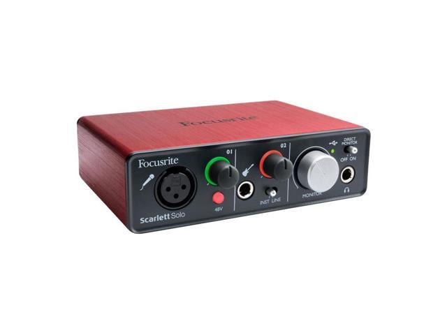 focusrite scarlett solo 96k usb audio interface with mic and guitar inputs. Black Bedroom Furniture Sets. Home Design Ideas
